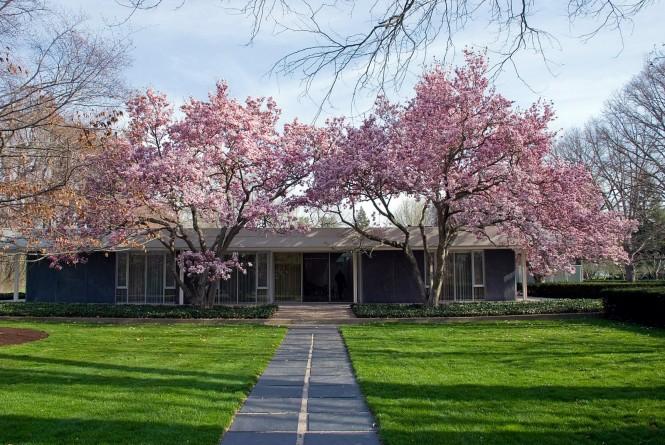 Exerior casa Saarinen Miller