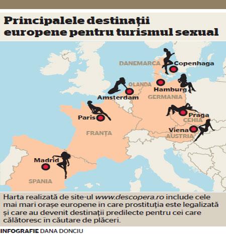 harta tarilor unde se practica turism sexual