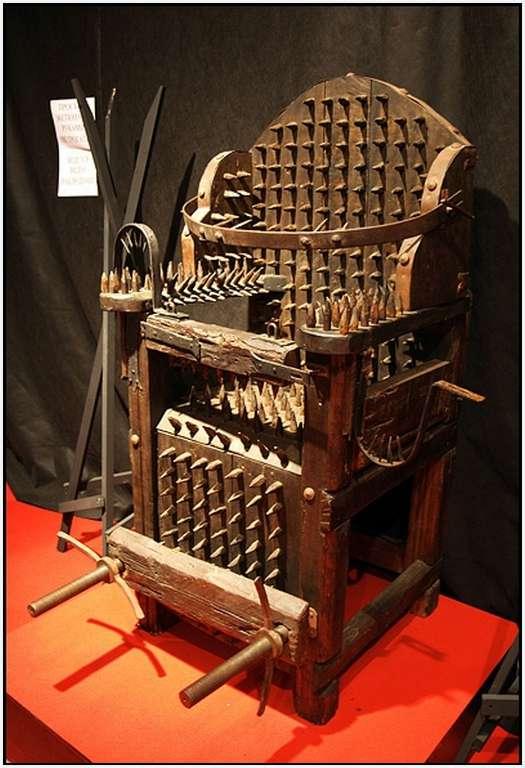 Instrument de tortura, scaunul vrajitoarei
