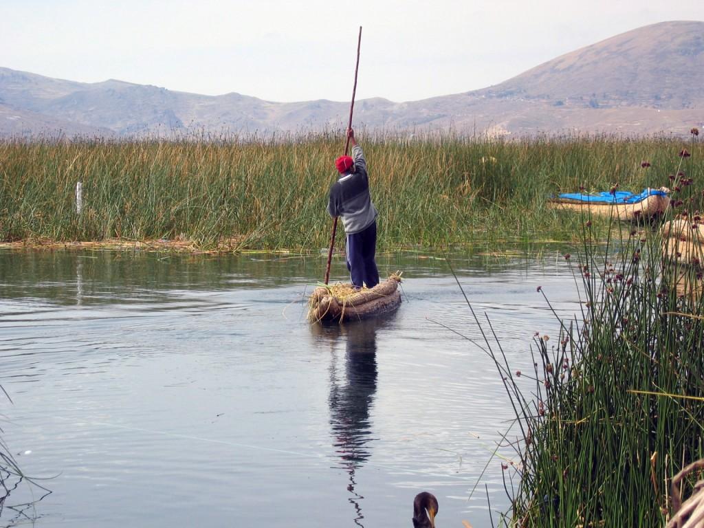 Barca de stuf - Titicaca