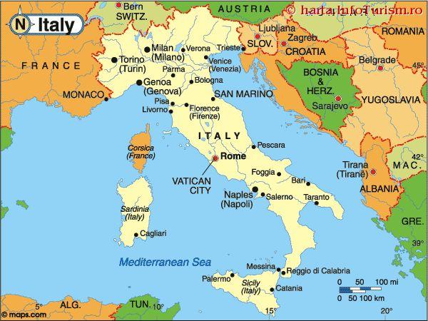 Harta Politica a Italiei