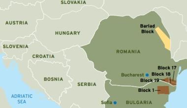 harta zonelor cu gaze de sist